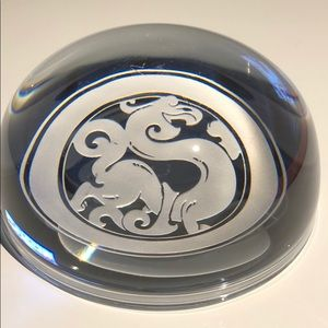 Dragon crystal paperweight  office desk decor